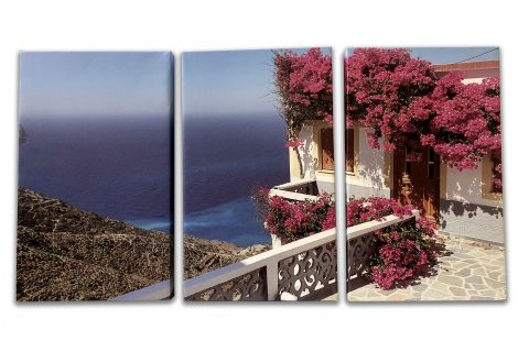 Triptych painting on canvas